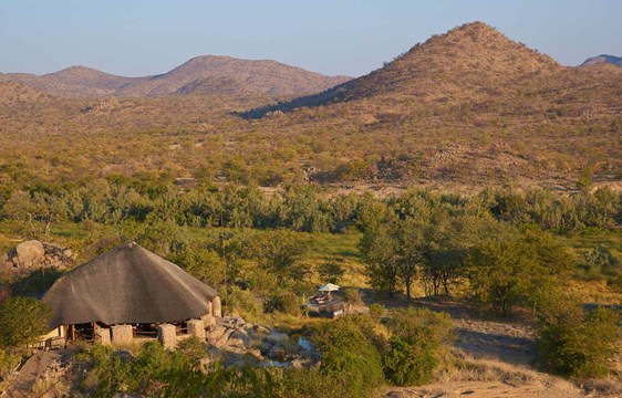 Safari Lodge in the Huab River Valley of Namibia