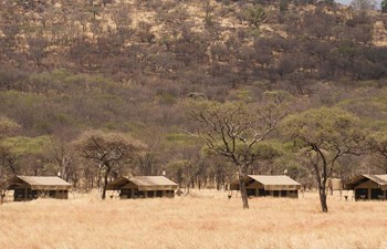 Row of tents iin Kati Kati Tented Camp