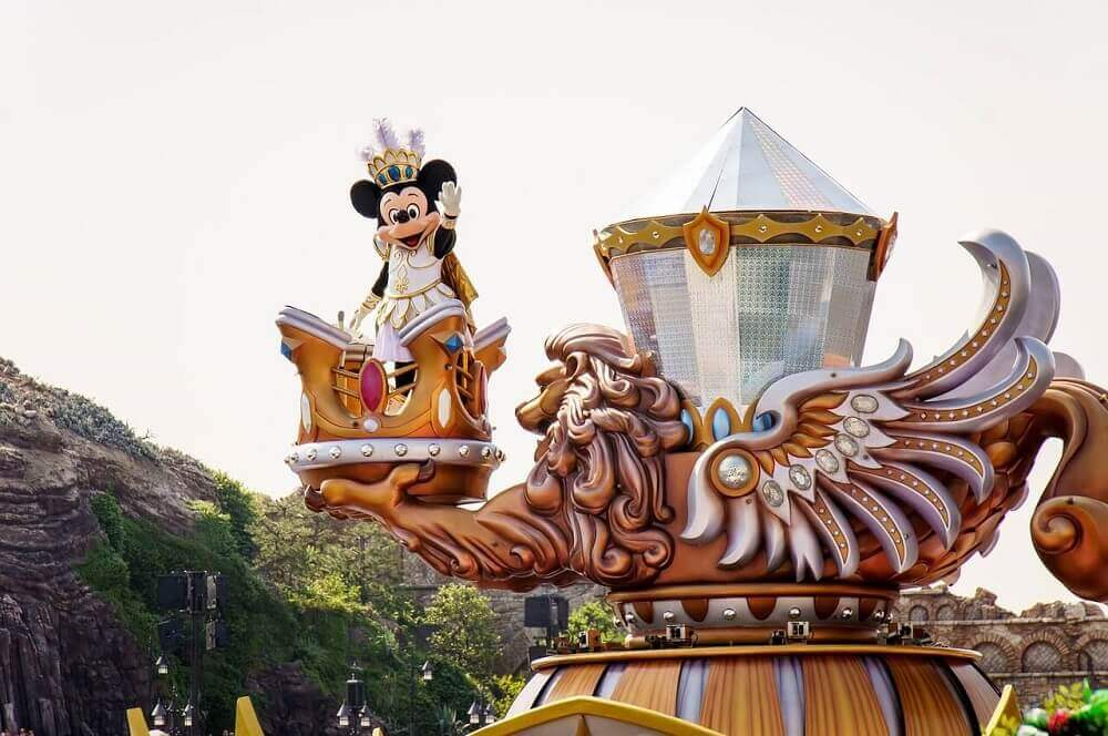 Mickey Mouse at Tokyo Disney in Japan