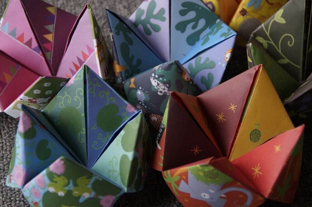 Colourful Japanese origami activities for kids