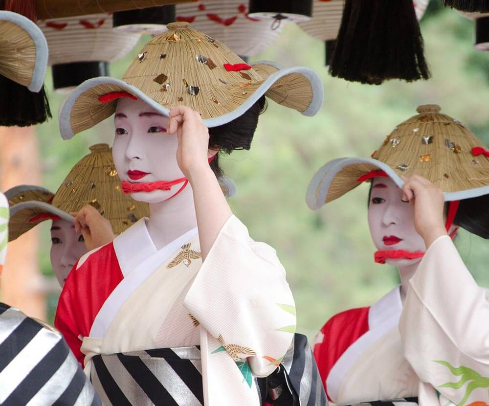 Japanese women dressed in Kimoni in Kyoto festival
