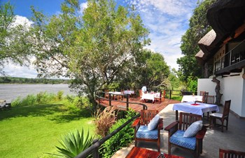 Waterberry Lodge Livingstone Zambia - Outside Lounge