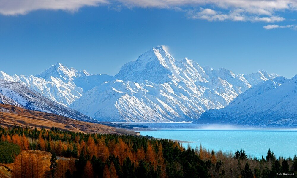 Aoraki Mount Cook Lake Pukaki South Island Canterbury New Zealand the Lord of the Rings The Hobbit filming location