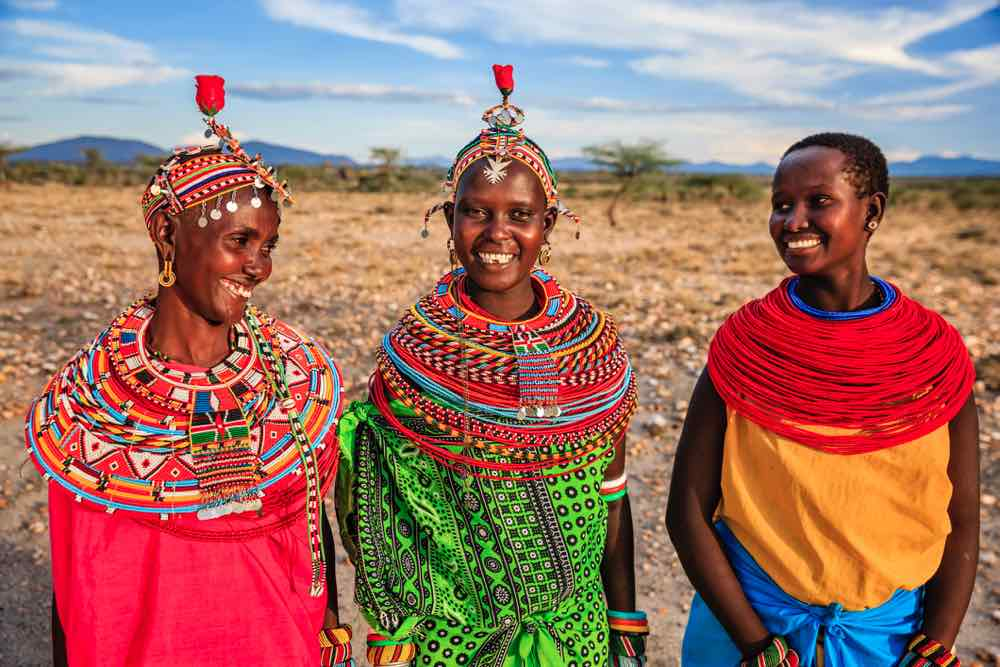 Samburu women in Kenya in national dress
