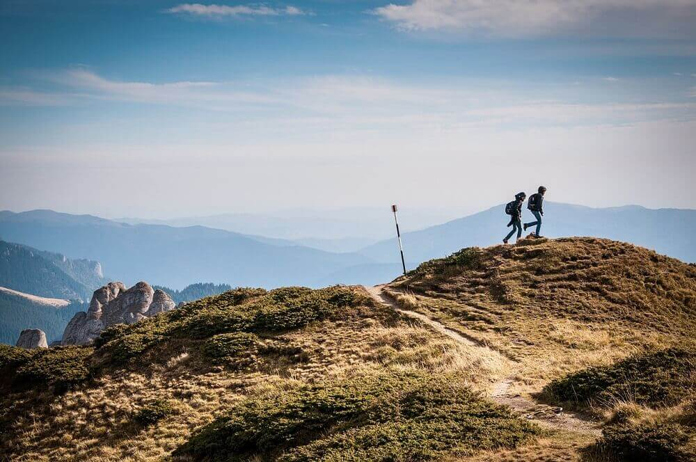 Responsible travellers hiking