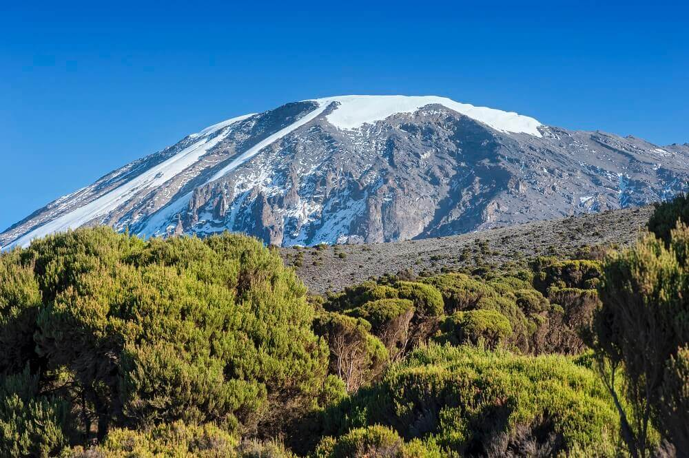 Tanzania Mount Kilimanjaro snow-capped peak