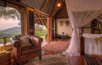 View of the Literary Room, Saruni Mara, Masai Mara, Kenya