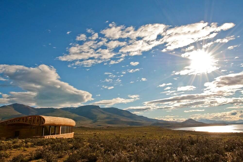 external view of the panoramic views from a room at tierra patagonia