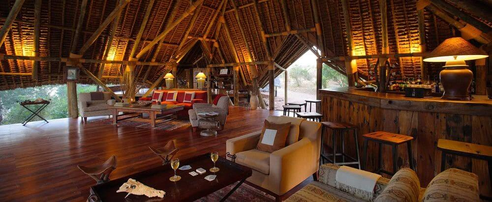 main boma at jongomero camp, ruaha national park, tanzania
