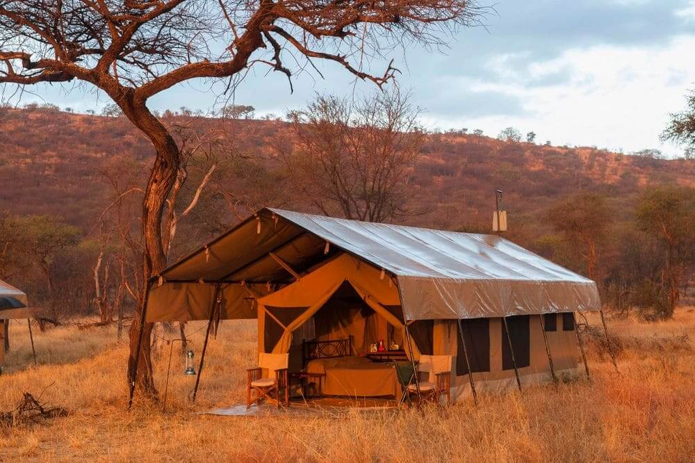 luxury tent at kati kati tented camp, serengeti national park, tanzania