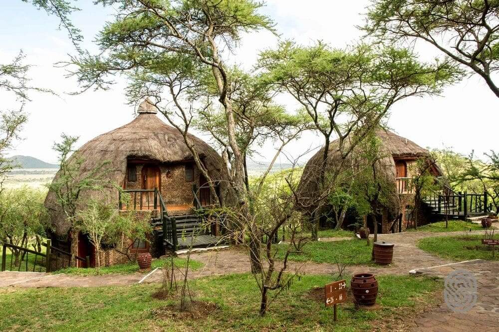 dome huts at serengeti serena safari lodge, serengeti national park, tanzania