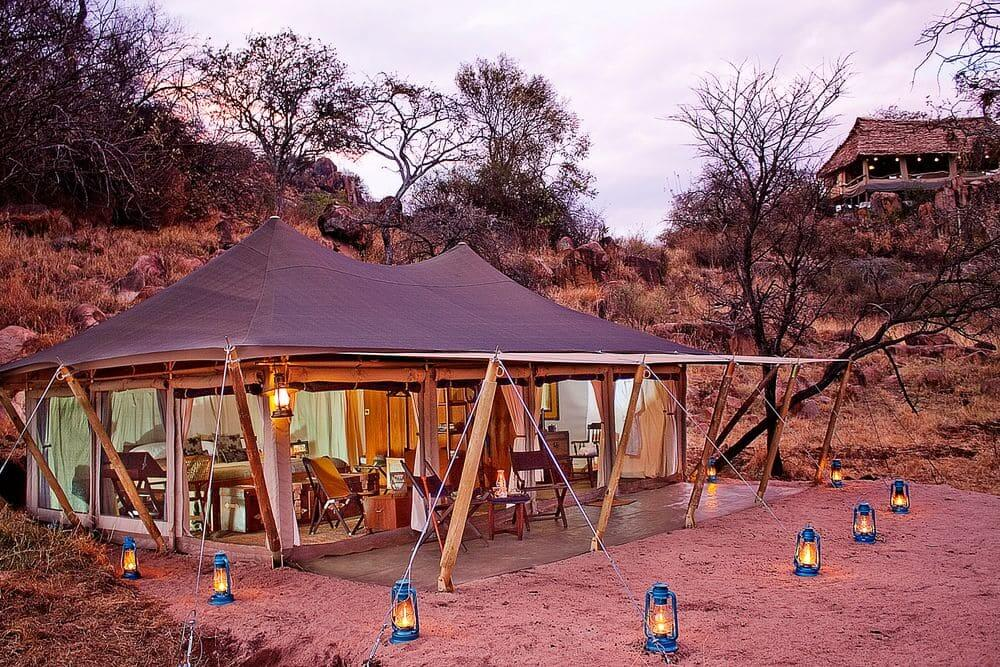 luxury tent at serengeti pioneer camp, serengeti national park, tanzania
