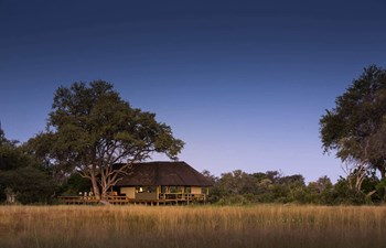 panoramic view of The Jackal and Hide Camp in the Khwai Area of Botswana
