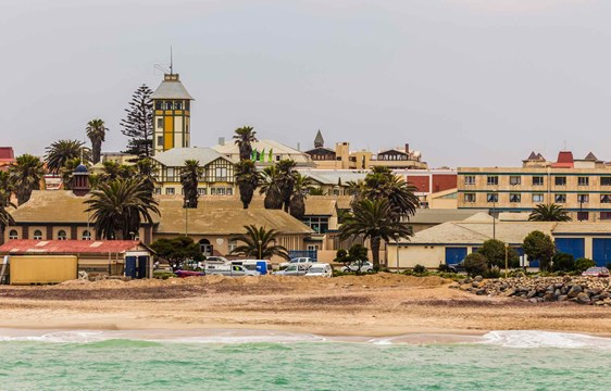 Swakopmund German colonial town on the coast of Namibia