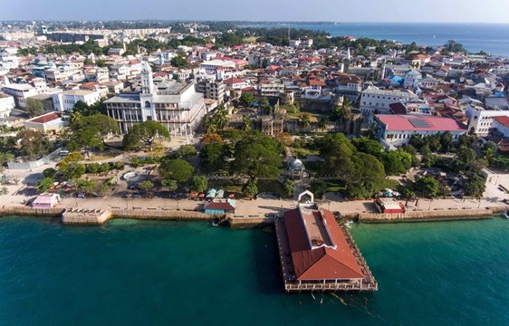 Zanzibar Island Stone Town view from above