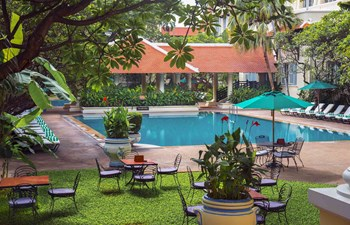 Raffles Phnom Penh outdoor hotel pool