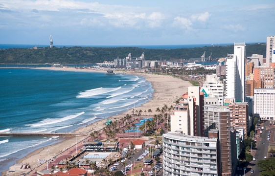 View of Durban city in South Africa