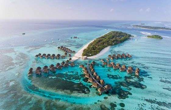Luxury water villas in Maldives