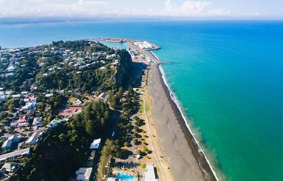 Aerial view of Hawkes Bay in New Zealand