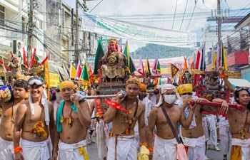 Vegetarian Festival Procession in Phuket Thailand