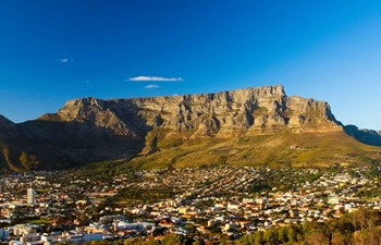 View of table mountain in Cape Town South Africa