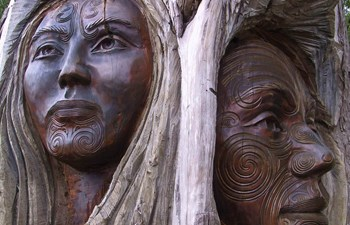 Maori Art - Wood Faces - New Zealand