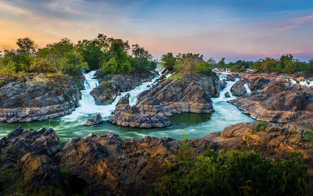 4000 Islands Champasak waterfalls in Laos