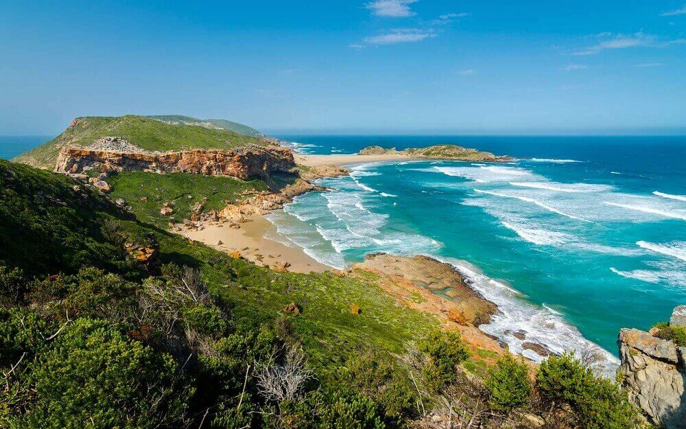 Robberg Peninsula beaches in South Africa