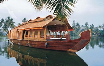 Luxury houseboat in Cochin Kerala in India