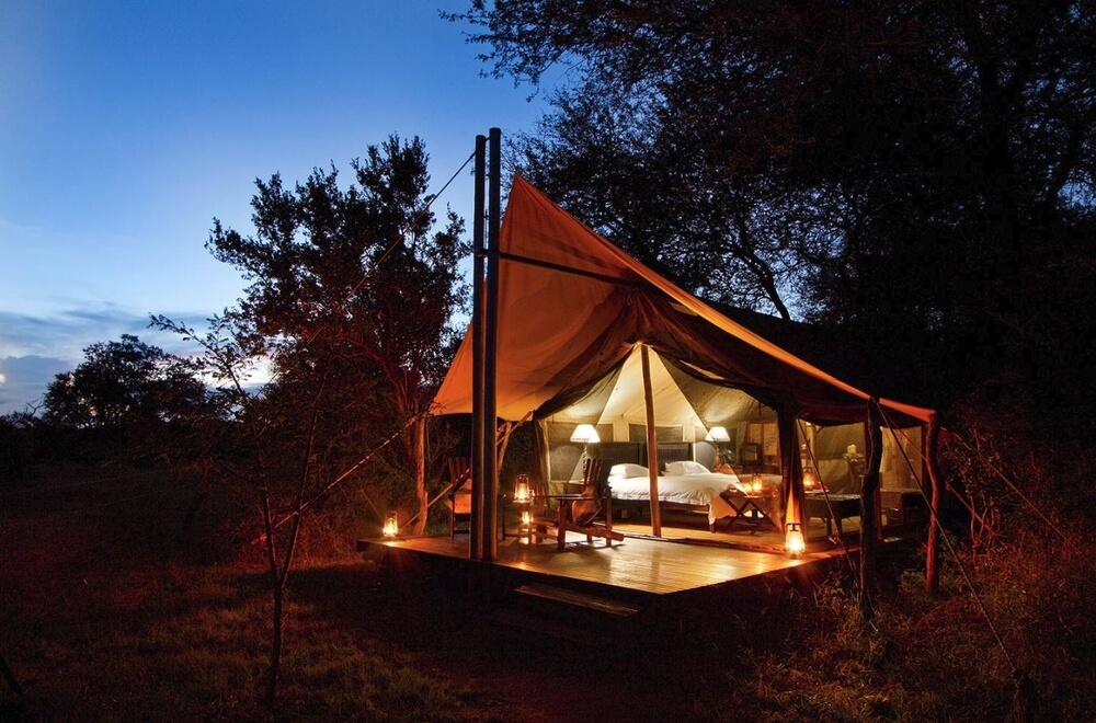 rhino-walking-safari-tent-campsite-africa