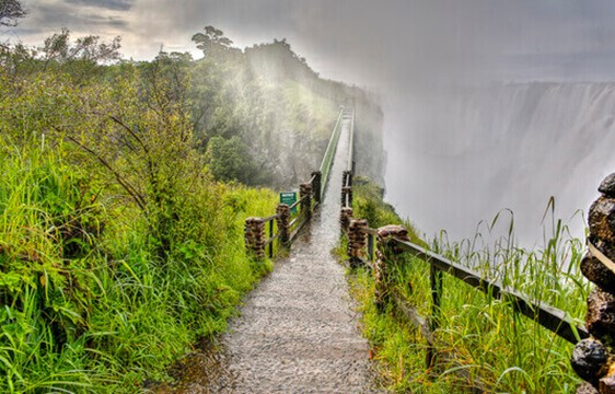 Footpath around Victoria Falls in Zambia