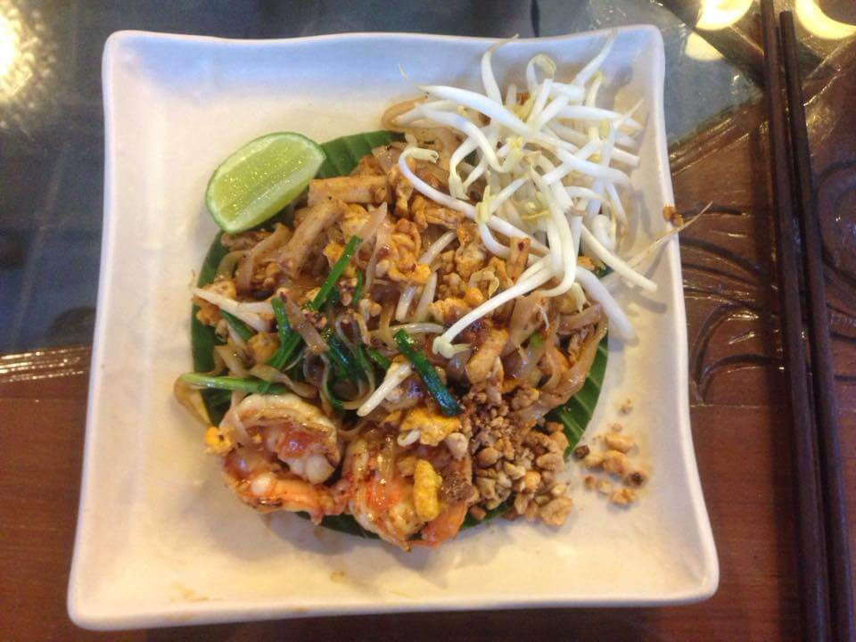 Cooking pad thai in Chiang Mai Thailand