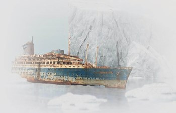 Discovering Antarctica - expedition shipwreck of polar explorers stuck in ice
