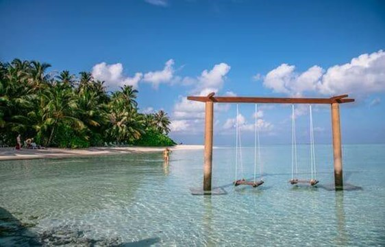 beach swing overwater in the maldives