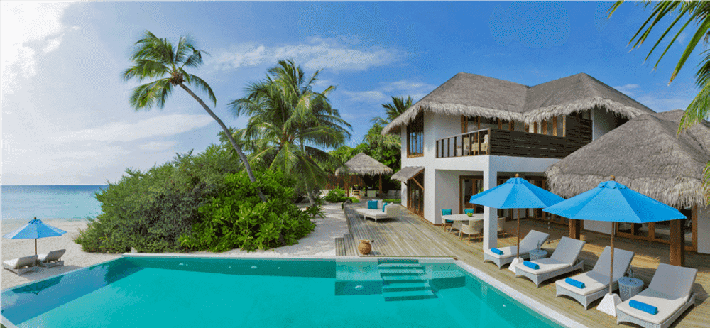 beachfront residence with private pool at dusit thani maldives