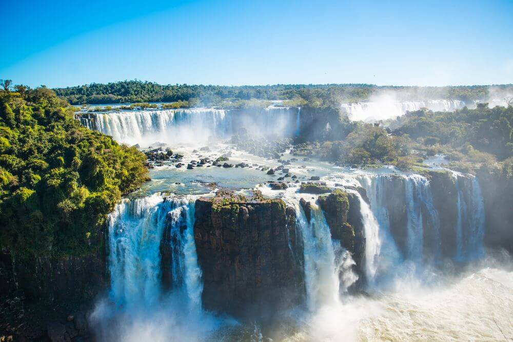 aerial view of Iguazu Falls in Argentina
