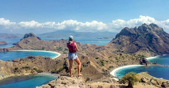The Top of Padar Island in Indonesia