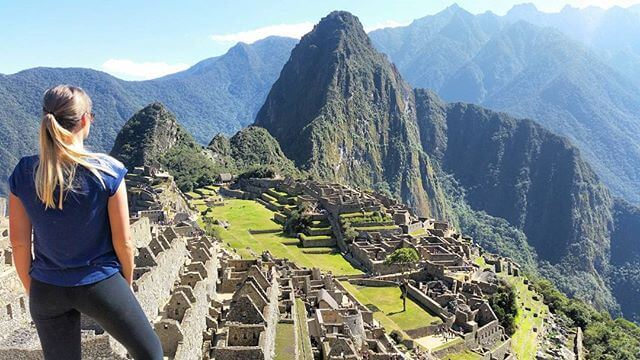 Looking out over Machu Picchu