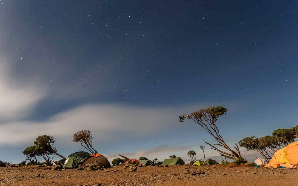 Mount Kilimanjaro Machame Route Camp in Tanzania
