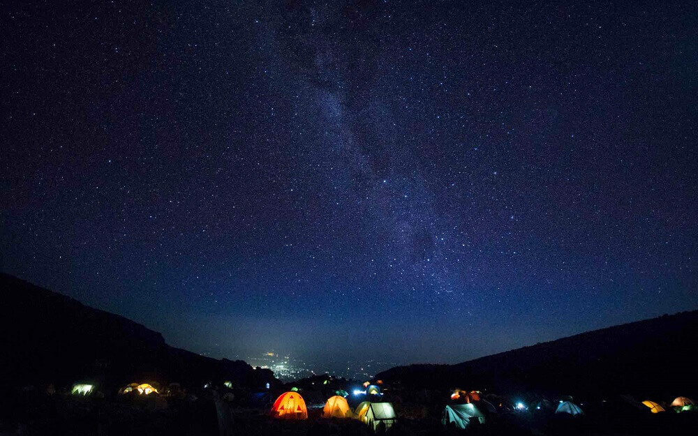 Night Sky from a Mount Kilimanjaro Camp in Tanzania