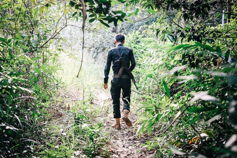 wildlife alliance ranger patrolling the rainforest