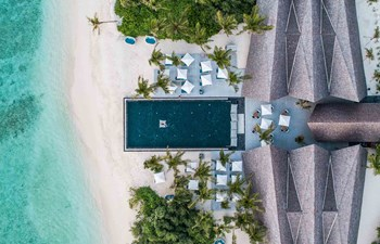 Aerial shot of Movenpick Maldives
