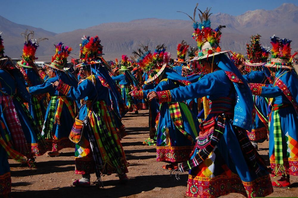 colourful traditional dress at a festival in chile