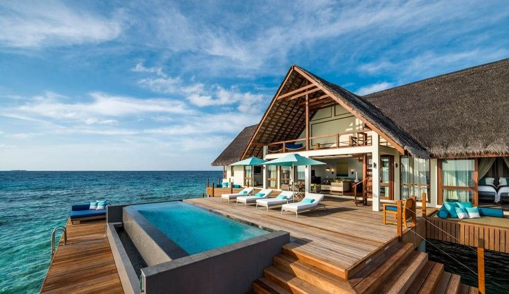 overwater villa at Four Seasons Landaa Giraavaru, Maldives