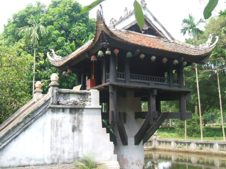 One Pillar Pagoda in Hanoi Vietnam