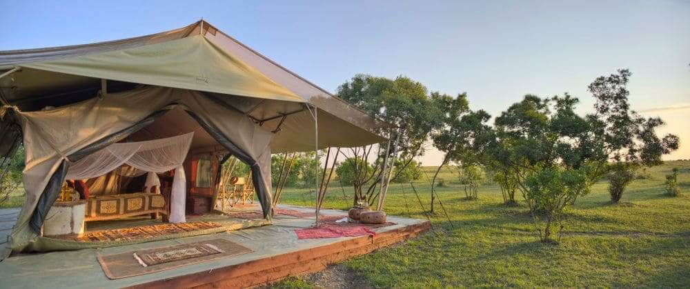 luxury tent at saruni wild in the masai mara, kenya
