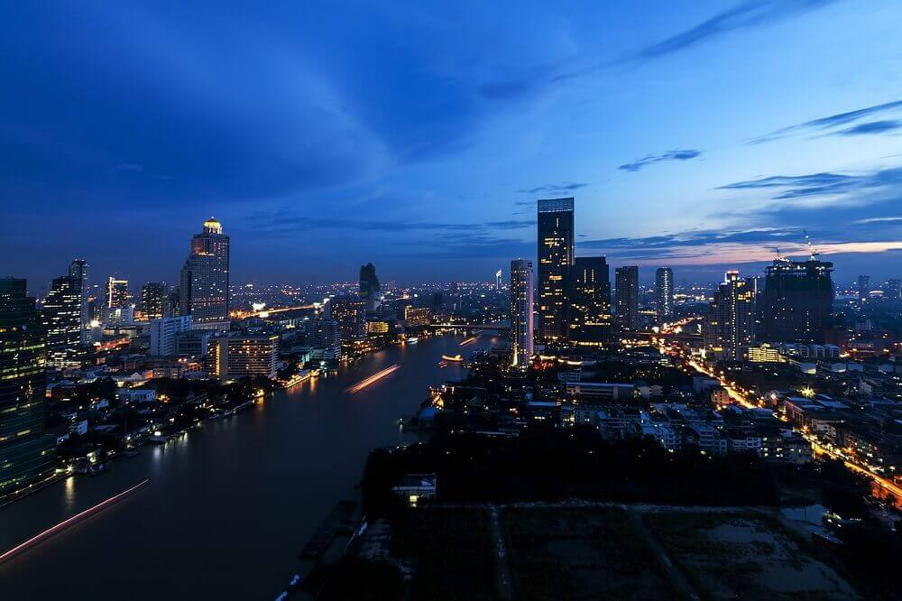 Bangkok skyline rooftop bars for New Years Eve - Thailand festivals