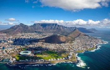 Aerial city view - things to do in Cape Town with kids - South Africa
