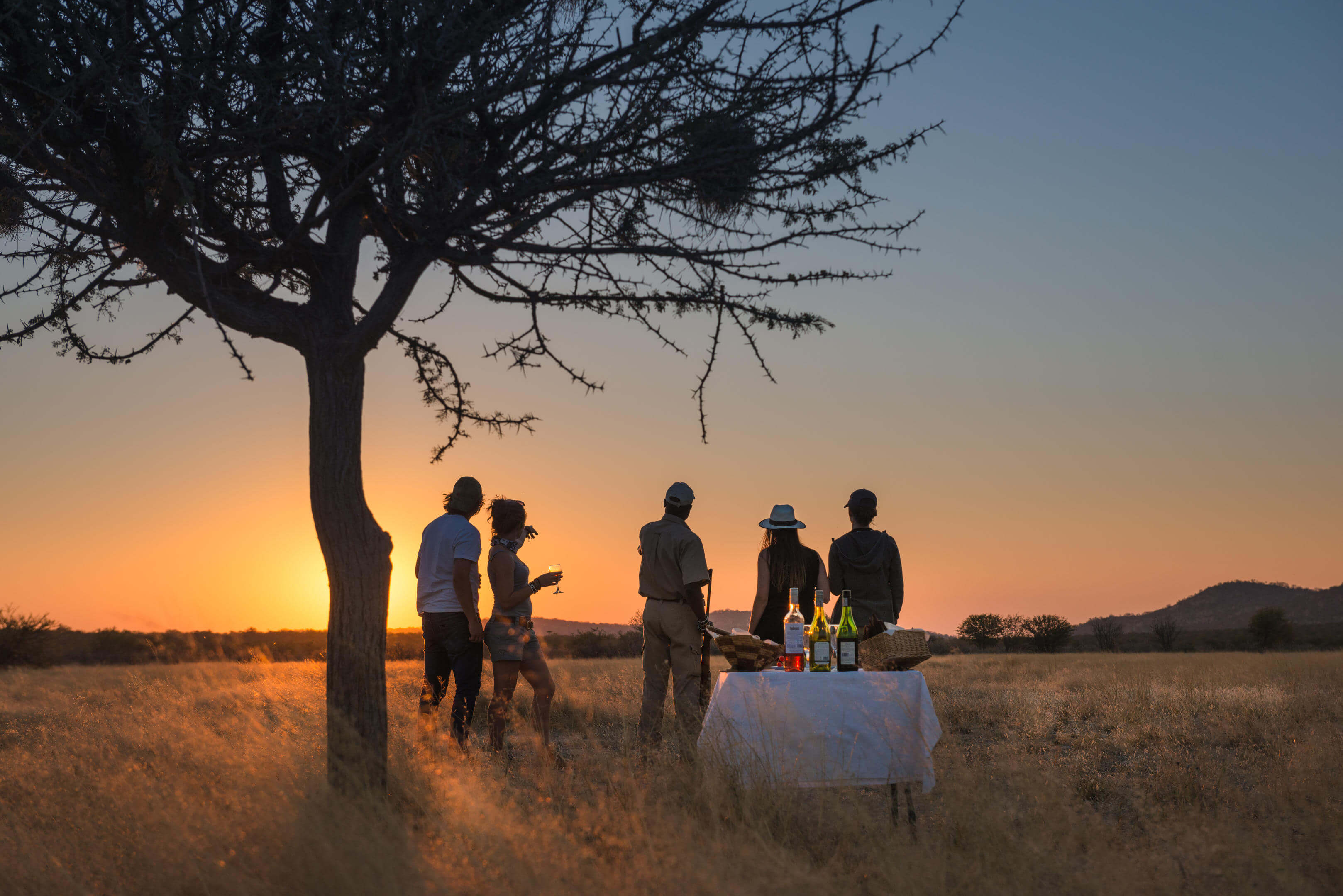 Sundowners from Anderssons at Ongava, Namibia